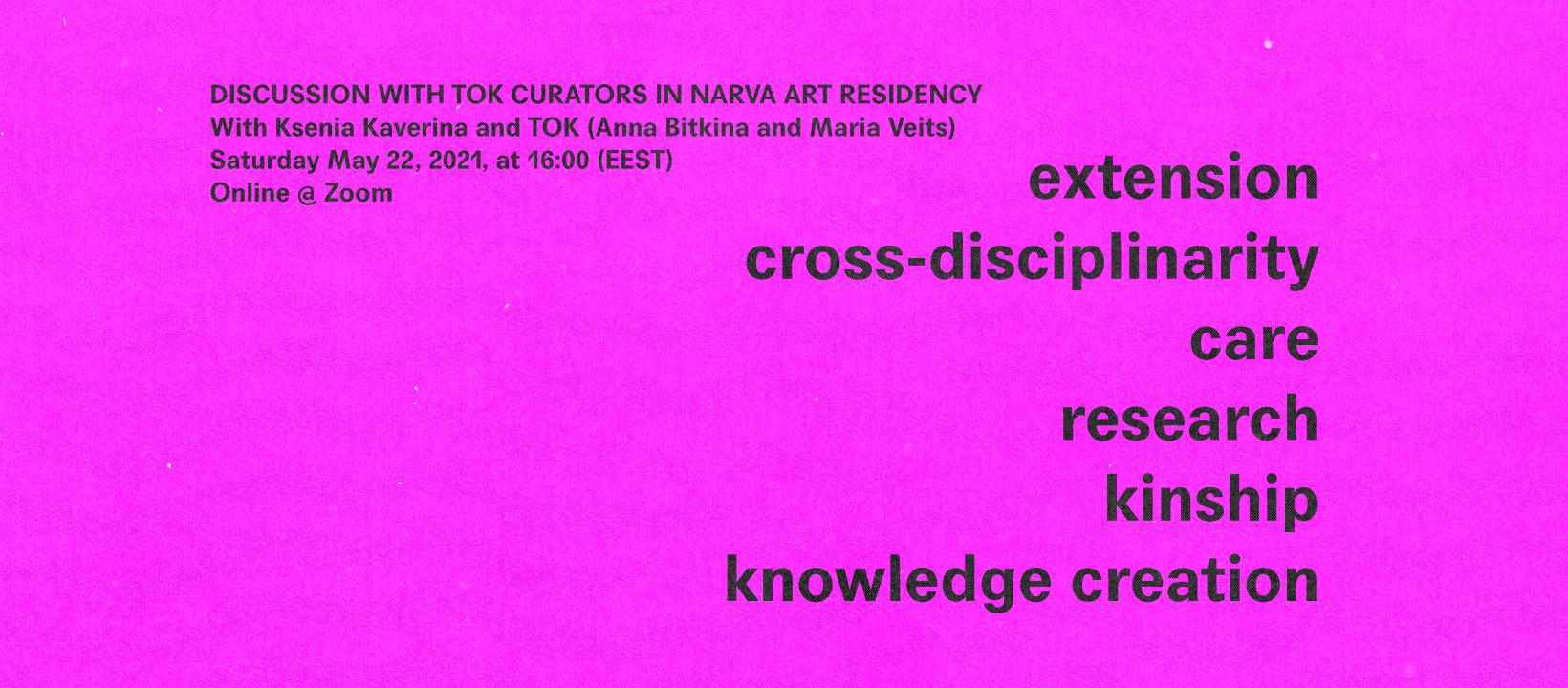 (Re)configuring Territories Talk: Discussion with TOK Curators in Narva Art Residency